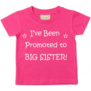 I've Been Promoted to Big Sister Pink Tshirt Baby Toddler Girls Kids Available in Sizes 0-6 Months to 3-4 Years New Baby Sister Gift