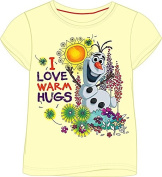 Girls Disney Frozen Olaf Summer 100% Cotton Tshirt Top