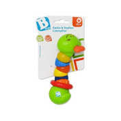 Rattle and Teether Catty CATERPILLAR TEETHER RATTLE SENSORY PLAY 0+ TOY byBKids