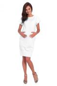 Futuro Fashion Sensible Maternity Shift Dress Short Sleeve Crew Neck FA384