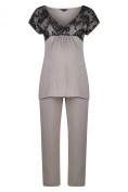 Radiance Short Sleeve Pyjamas (Maternity & Breastfeeding) in Mink