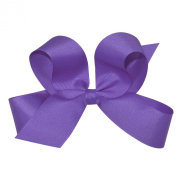 Wee Ones Baby Girls' Large Classic Grosgrain Hair Bow on Barrette w/Plain Wrap