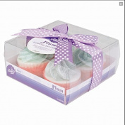 CUPCAKE BATH BOMB FRUITY PLUM FRESH SUMMER SCENT GIFT PACKED 4 PACK