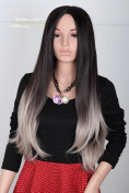 Fashion Sexy Long Curly Wavy Halloween Christmas Cosplay Party Wig Gradient Colour