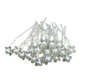 20Pcs Pearl Flower Crystal Diamante Hair Clip Pins Wedding Bridal Prom