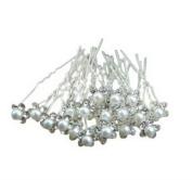 20Pcs Pearl Flower Crystal Diamante Hair Clip Pins Wedding Bridal Prom