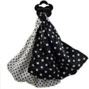 Headwrap Satin Look Head Wrap Hair Wrap Shiny Headwrap Silk Like Soft Glitter Polka Dot Pair Black And White
