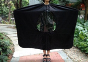 Ewin24 Visible Hair Cutting Gown Cape With Viewing Window Hairdresser Barber Stylist Hair Cut
