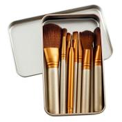 Beau Belle Make Up Brushes - 12pcs Professional Travel Set