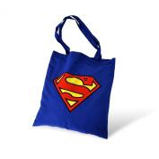 Superman Bag DC Comics Textile Bag Carrying Bag Cotton Bag Blue