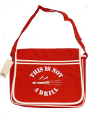THIS IS NOT A DRILL- Funny spoof silly Graphic -Retro Messenger Men's Shoulder Bag