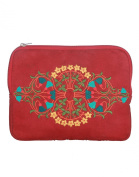 Floral women Large Maroon Ipad Case
