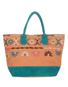 Floral women Large Brown Shoulder Bag