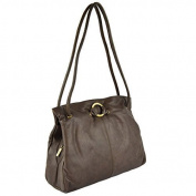 Ladies Soft LEATHER Shoulder HANDBAG GiGi OTHELLO Collection Classic Stylish