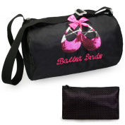 kilofly Ballerina Ballet Tutu Dance Bag + Handy Pouch with Mirror