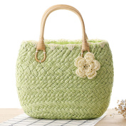 Stone store Lovely Small Straw Handbag Exquisite Beach Bag with Flowers Covers