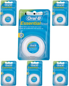 6 x Oral-B Essential Waxed Mint Floss 50m