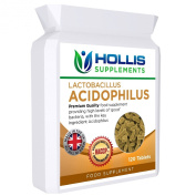 Lactobacillus Acidophilus. Providing High Levels of Good Bacteria Aiding Digestive Health and Producing Vitamin K to Help Proper Blood Clotting, Bone Formation and Repair. Premium Quality Tablets 500 Million CFU. 120 Tablets. Four Months Supply.