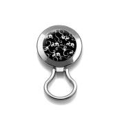 Glasses Holder Pin - Magnetic Glasses Holder Clip - B & W Design