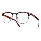 Men's Women's Original Wayfarer Retro glasses CLEAR LENS Unisex Vintage