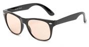Zero Strength Lens Computer Glasses, Black Wayfarer Frame Anti Glare Unmagnified Tinted Lens Unisex + Pouch