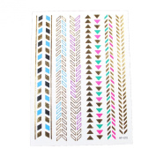 Metallic Tattoo Tattoos Gold Silver Temporary Tattoo Paper Sheet Pack Bracelets Multi Colour