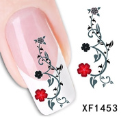 Fashion Japanese Watermark Style Beautiful Rose Flower Tip Nail Art Nail Sticker Nail Decal Carving Butterfly Shape Nail Stickers