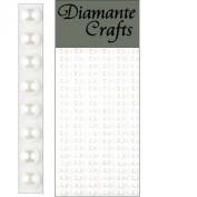 120 x 5mm White Pearl Self Adhesive Strips Rows Rhinestone Body Vajazzle Gems - created exclusively for Diamante Crafts