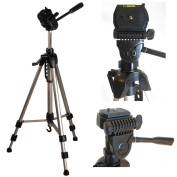 "Ex-Pro TR-570AN Professional Photographic Camera Tripod for Canon EOS 350D - (620mm - 1700mm / 67"") Light Weight, Full Geared system, Fluid Pan Head, 3 Section Lock Legs, Spirit Level, Fast Instal, Quick Release, High Quality."