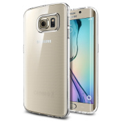 Galaxy S6 Edge Case, Spigen® [Ultra-Thin] Galaxy S6 Edge Case Slim **NEW** [Liquid Air] [Liquid Crystal] Premium Semi-transparent Super Lightweight / Exact Fit / Absolutely NO Bulkiness Soft Case for Galaxy S6 Edge (2015) - Liquid Crystal (SGP11 ..