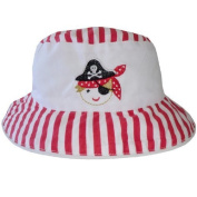 Powell Craft 100% Cotton Pirate Design Baby Boys Hat / Sun hat Age 0-3 yrs approx