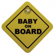 AutoStyle 1/07030 Auto Sticker Baby On Board Inford Sign Yeloow 16X16Cm