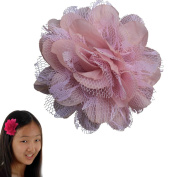 Peony Flower Hair Clip - Girl Wispy Clippy - Best NO Slip Barrette For Fine Hair