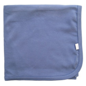 Tuppence and Crumble Organic Cotton Baby Shawl Blanket French Blue