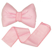 Decorative Bow with Ribbon for Baby Nursery Room Curtains / Canopy / Drape Decoration - PLAIN PINK