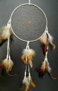 TRADITIONAL DREAMCATCHER NATURAL SUEDE DREAM CATCHER