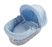 Kinder Valley Waffle Wicker Moses Basket, White