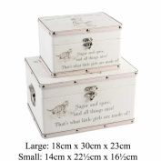 "Luggage series - Set of 2 Baby Storage Boxes - ""Little Girls"""