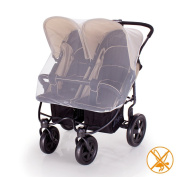 Mosquito, Insect Net For Double/ Twin Pushchair, Pram, Buggy.