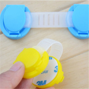 2Pcs Baby Child Protection Cupoard Drawer Safety Locks Security Door Locks Random Colour