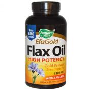 EFA Gold, Flax Oil, High Potency, 1300 mg, 200 Softgels - Nature's Way