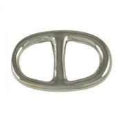 Buckle Style Silver Tone Scarf Ring With Gift Box