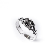 81stgeneration New sterling silver 925 sunflower toe ring adjustable size