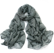 Giraffe Print Soft Celebrity Scarf Animal Fashion Large Long Shawl Scarves Available in Red Black Pink Yellow and Grey