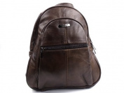 NEW LADIES GIRLS REAL LEATHER SMALL MEDIUM SIZED RUCKSACK BACKPACK STYLE HANDBAG