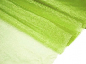 140cm x 40 yards Sheer Organza Fabric Put Up Bolt - Apple Green
