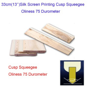 """33cm(13"""") Silk Screen Printing Cusp Squeegee Oliness 75 Durometer"""