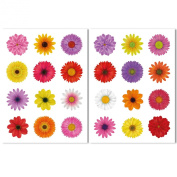 24 Beautiful Flower Window Clings by Articlings® - All Different Colours - Non-adhesive Stickers Quickly Decorate and Brighten your Windows
