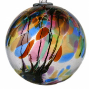 Witches or Spirit ball, 15cm, multicoloured with glass strands inside