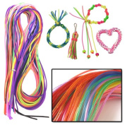 AMOS Scoubi Scooby Scoubidou Scoobies 50 Pack Weaving Fashion Strings Friendship Bracelet Jewellery Making Craft Kids Party Bags Toy Game
